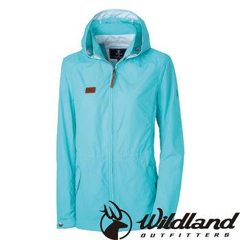 【荒野wildland】女SUPPLEX抗UV時尚外套 湖水綠 (0A31905-67)