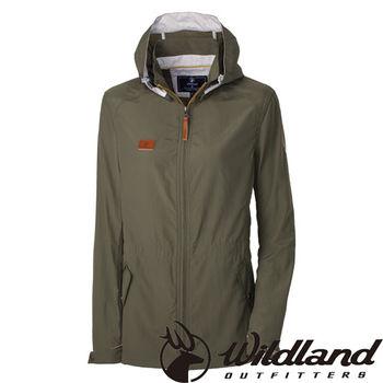 【荒野wildland】女SUPPLEX抗UV時尚外套 深卡其 (0A31905-63)