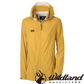 【荒野wildland】女SUPPLEX抗UV時尚外套 駱黃色 (0A31905-33)