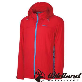 【荒野wildland】男彈性透氣抗UV輕薄外套 紅色 (0A31906-08)