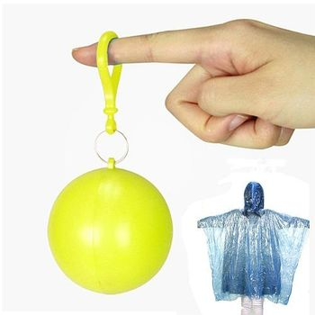 【韓國SELPA】彩色輕巧隨身雨衣球/輕便雨衣(黃色二入)