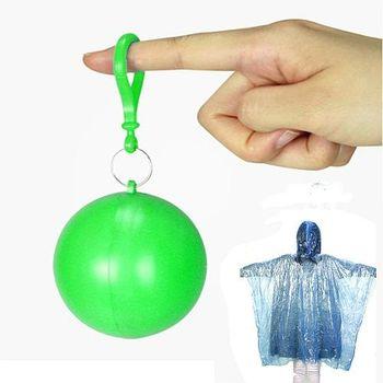【韓國SELPA】彩色輕巧隨身雨衣球/輕便雨衣(綠色二入)