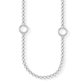 德國Thomas Sabo Charm Club 925純銀多扣環吊飾項鍊(內圍80cm)(寬度:0.1cm)X0201-001-12