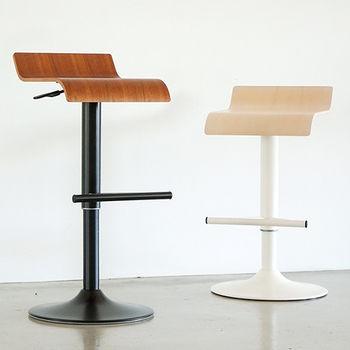 《舒適屋》設計簡約曲線升降吧台椅/高腳椅(2色可選)