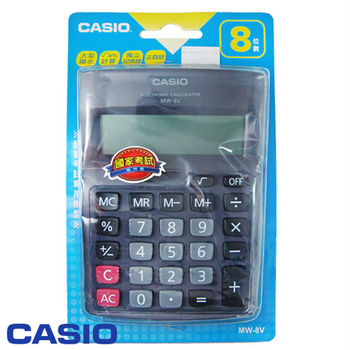 CASIO超得力8位元桌上型大顯示幕國家考試專用計算機