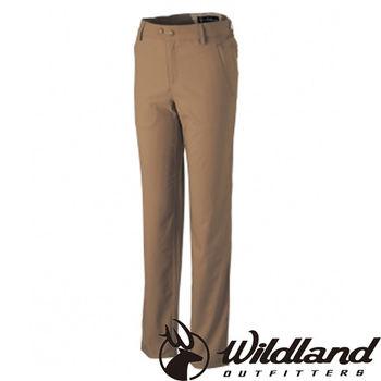 【荒野wildland】女日本紗彈性抗UV長褲 黃卡其 (0A31303-62)