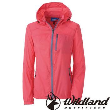 【荒野wildland】女RE彈性抗UV透氣輕薄外套 粉橘色 (0A31991-78)