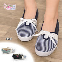 ~Shoes Club~~041 ^#45 37082~包鞋. 製MIT 海軍風線條蝴蝶結