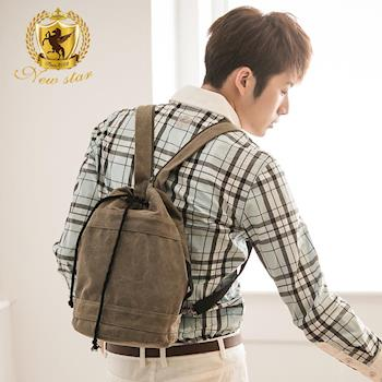 NEW STAR 韓系極簡帆布包後背包帆布包中款 BK163