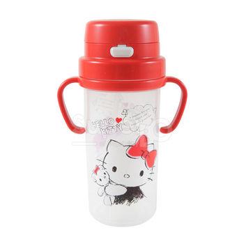 日本2WAY吸管練習杯水壺 (370ml) Kitty