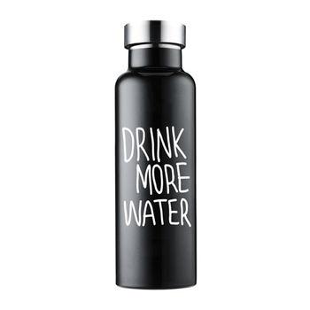 HY多喝水真空保溫瓶-黑色600ml