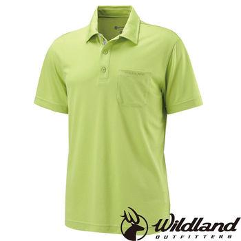 【荒野wildland】男疏水纖維POLO排汗衣 芥末綠 (W1622-39)