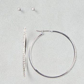 【American Eagle】2016典雅水晶圈螺柱2件組耳環(預購)