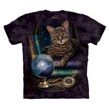 【摩達客】(預購)美國進口The Mountain 算命貓 純棉環保短袖T恤