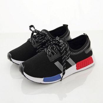 《DOOK》潮流輕量休閒鞋/鬆緊帶收口網布走路鞋-黑色