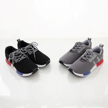 《DOOK》潮流輕量休閒鞋/綁帶款網布走路鞋-2色