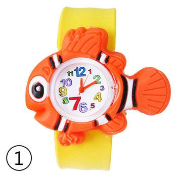 可愛動物兒童拍拍錶