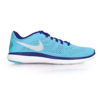 【NIKE】FLEX 2016 RN 女慢跑鞋- 路跑 健身 訓練 水藍紫