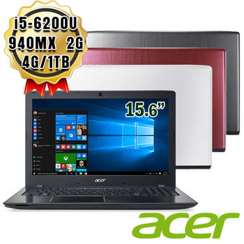Acer 宏碁 E5-575G 15.6吋 i5-6200U 獨顯GT 940MX 2G 大容量1TB 超效能筆電