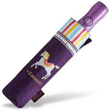 rainstory雨傘-旋轉木馬(紫)抗UV個人自動傘