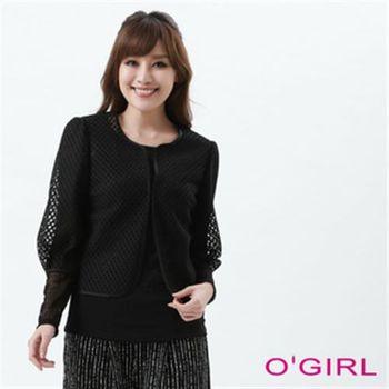 【OGIRL】韓風名模格紋外套