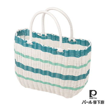 【日本Pearl Life】編織野餐籃(S)-藍