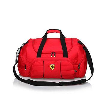 【Ferrari】法拉利經典有型防水旅行袋TF005B-R(紅色)