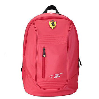 【Ferrari】義大利法拉利超跑多功能後背包TF025A(紅色)限量簽名款