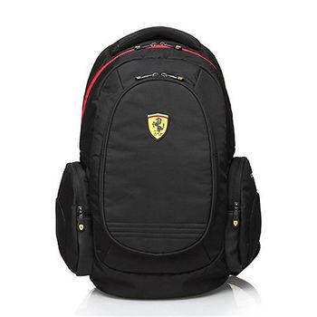 【Ferrari】法拉利時尚防水後背包TF015B-B(黑色)