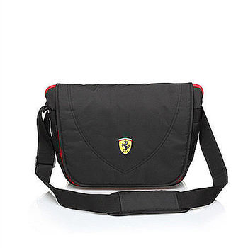 【Ferrari】法拉利 大側背包TF007B-B(黑色)