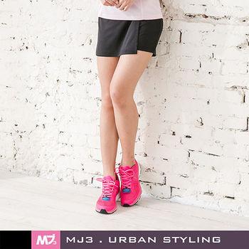 MJ3】抗UV吸排一片式短褲裙-女(神秘黑)S-L
