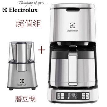 [加贈ECG3003S磨豆機]-伊萊克斯Electrolux -美式咖啡機ECM7814S