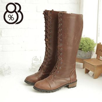 【88%】日韓潮流 高質感綁帶拉鍊馬汀長靴 機車靴 3色