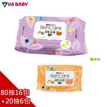 【優生】超厚型嬰兒柔濕巾80抽16包+20抽6包
