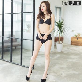 【伊黛爾】台灣製優質中腰緹花涼感蠶絲內褲 M-XXL(黑色)