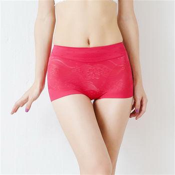 【伊黛爾】中高腰頂級無痕修飾蠶絲內褲 M-XXL(紅色)