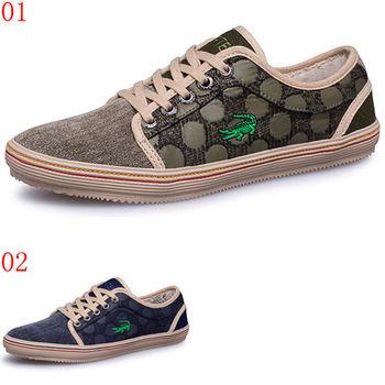 (預購)【CARTELO卡帝樂鱷魚】KWW2002100595男鞋夏季新款休閒鞋子韓版潮流低幫帆布鞋單鞋板鞋(JHS杰恆社)