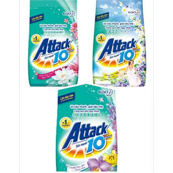 進口Attack 10倍效能洗衣粉-甜蜜幸福/醇厚木香/熱情香水(3款互搭)(360g)*12