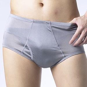 桑緹絲100%蠶絲中腰男內褲3件組