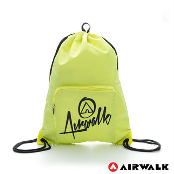 【美國 AIRWALK】第二代束口袋 - 螢光黃