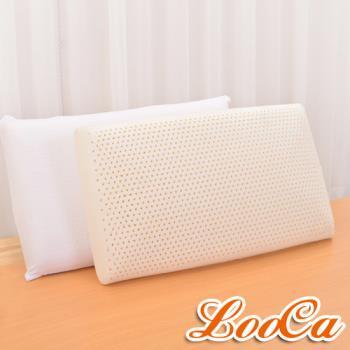 《贈枕套》LooCa 特大蜂巢式防落乳膠枕(2入)