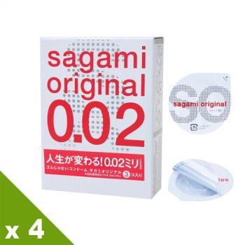 【相模Sagami】元祖002極致薄衛生套 (3入X4盒)