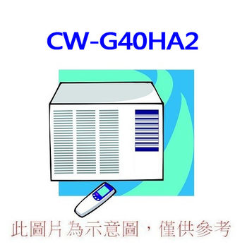 【Panasonic國際】5-7坪右吹定頻窗型冷氣CW-G40HA2