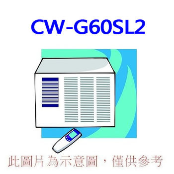【Panasonic國際】9-12坪左吹定頻窗型冷氣CW-G60SL2