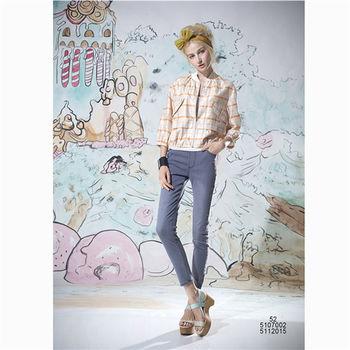 【女匠 Plombiere】米蘭格紋造型雙口袋短版外套