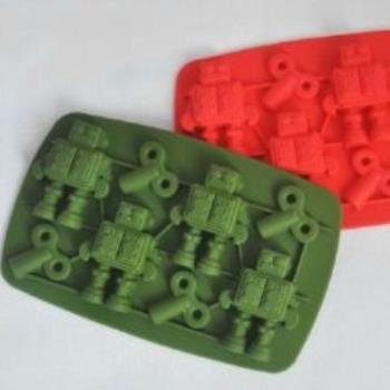 窩自在★機器人型製冰格/長方形冰杯/製冰盒