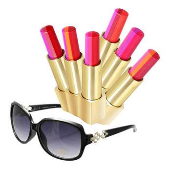 【ARONA】水漾誘吻三色唇膏8件組(三色唇膏3gX6+太陽眼鏡隨機款x1+試管香水隨機款x1)