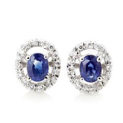 Dolly閃耀璀燦藍寶鑽石耳環