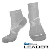 LEADER COOLMAX  薄型除臭機能襪 男款 #40 灰色 #41