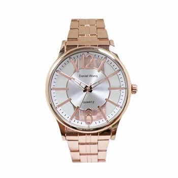 【Daniel Wang】簡約精緻鏤空錶面時尚腕錶  (素雅白 )